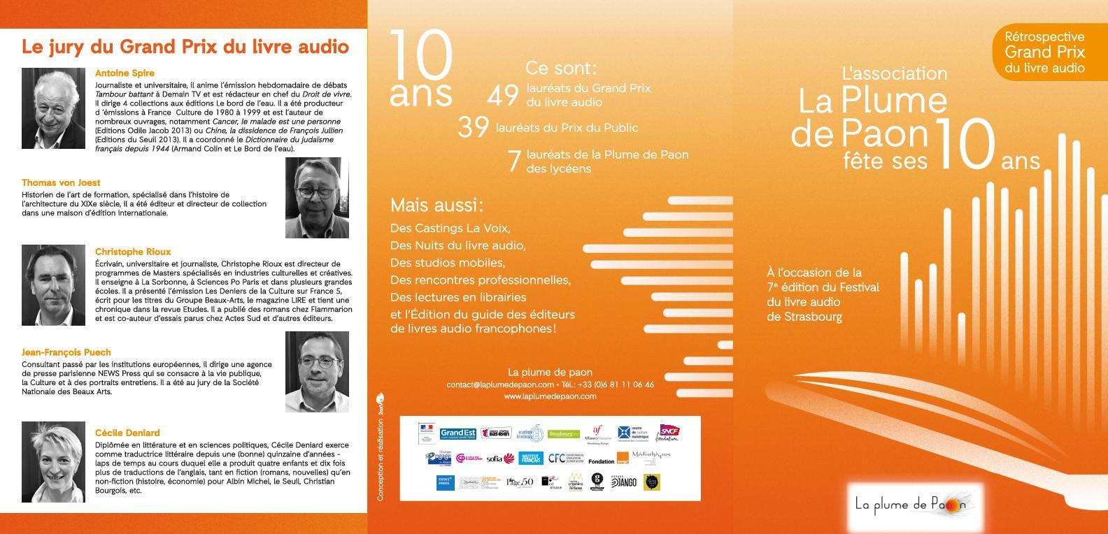 Calameo Laureats Du Grand Prix Du Livre Audio 2009 2019