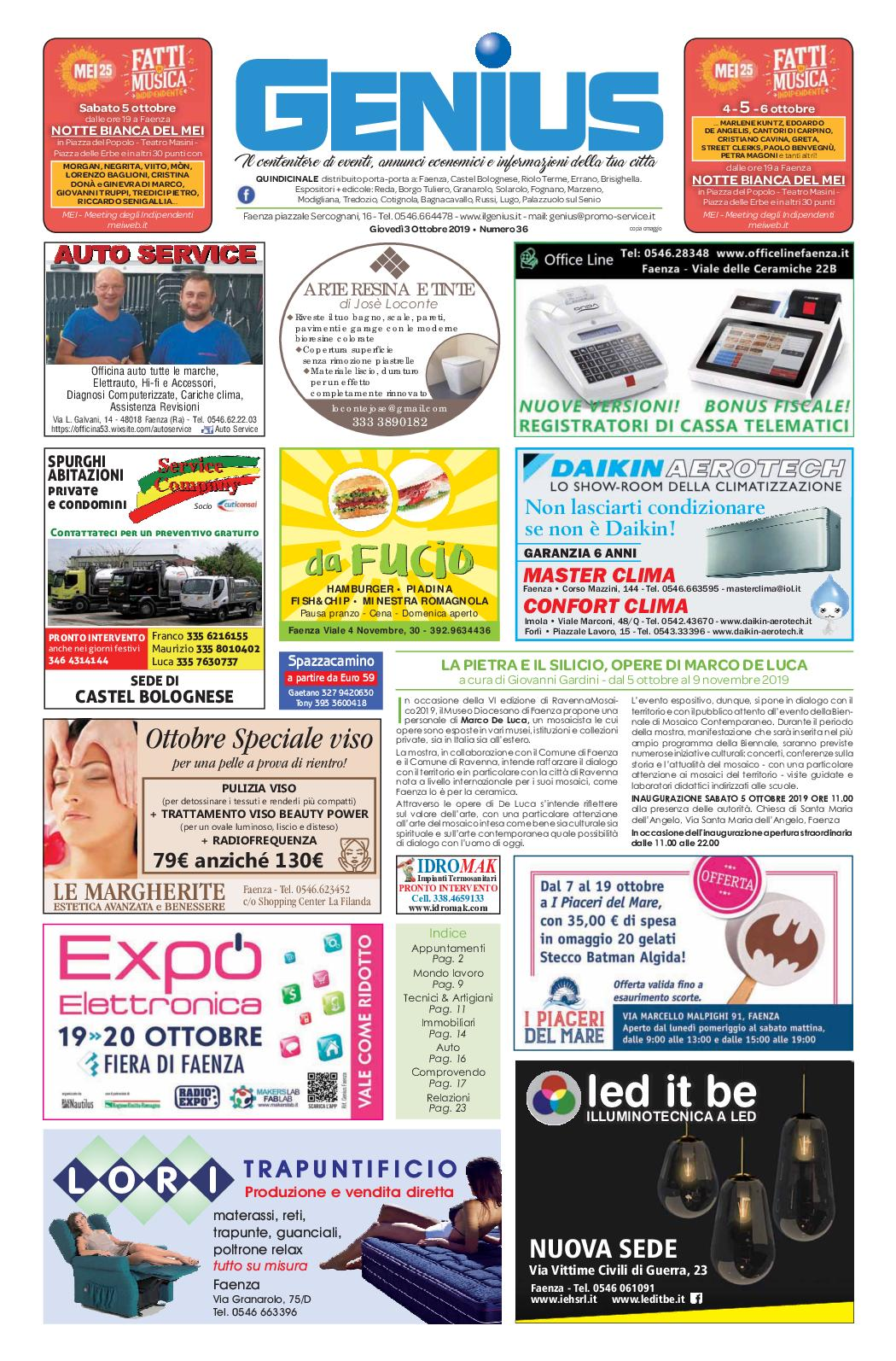 Casa Del Materasso Lugo calaméo - num 36 del 3 ottobre 2019