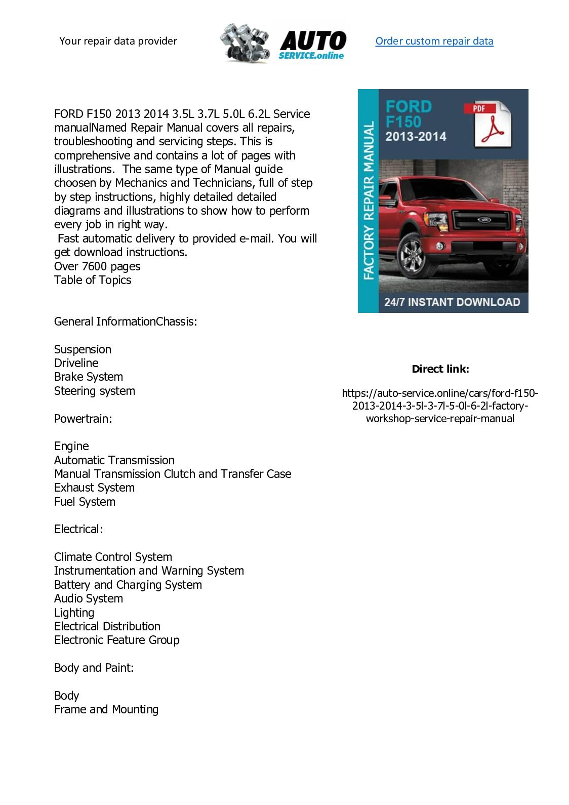 2014 Ford F 150 Wire Schematic - Wiring Diagrams