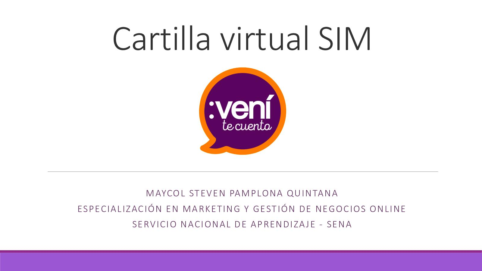 Cartilla Virtual Sim