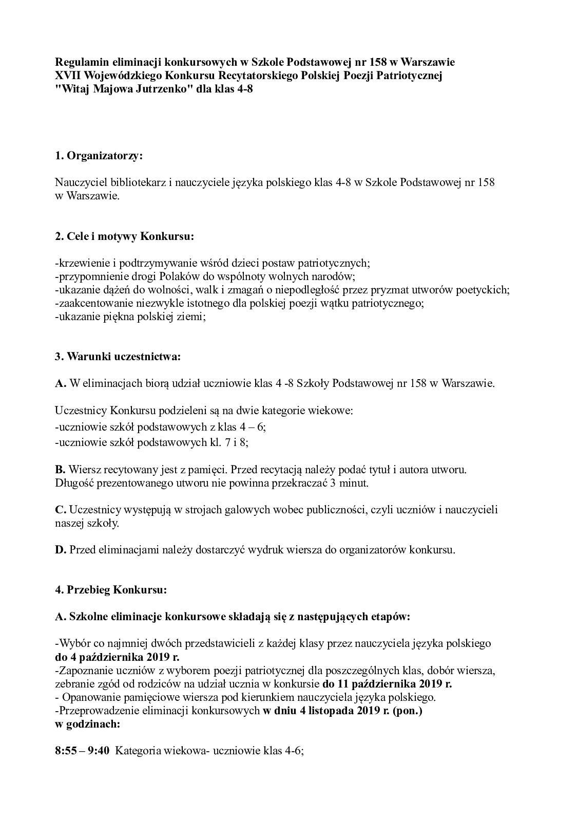 Calaméo Regulamin Eliminacji Szkolnych Xvii Wojewódzkiego