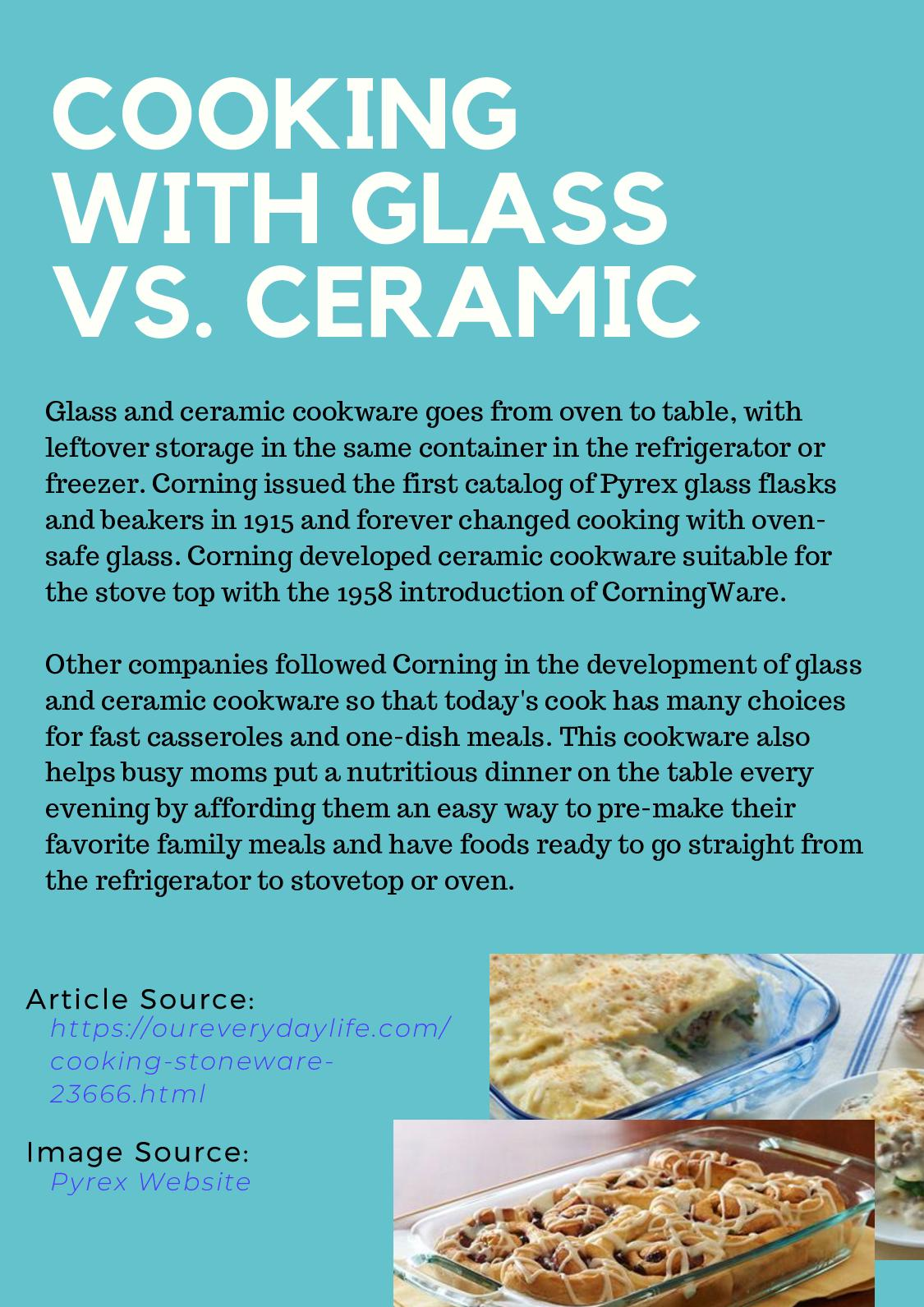 Calameo Cooking With Glass Vs Ceramic