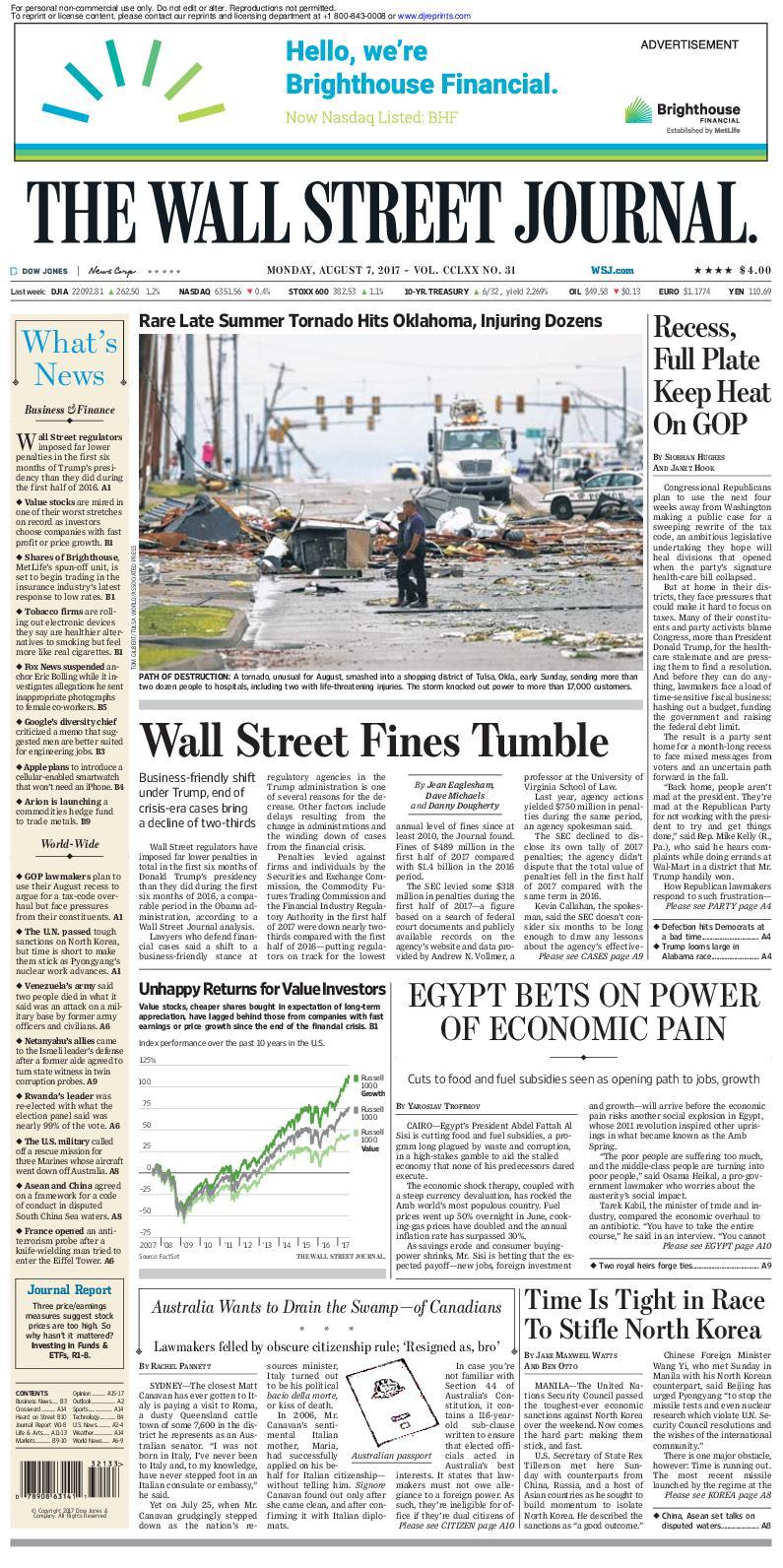 Calaméo - Wallstreetjournal 20170807 The Wall Street Journal