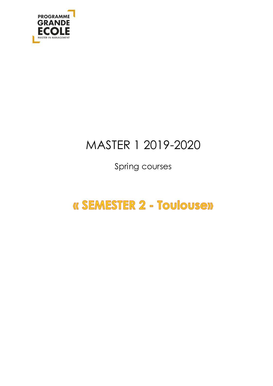 Maison Du Convertible Sebastopol calaméo - tbs syllabus s2m1 tlse 20