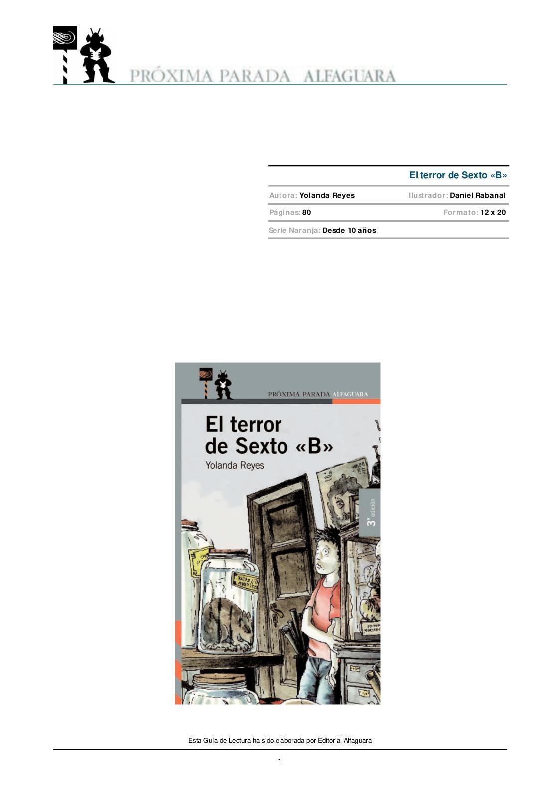 El Terror De Sexto B Libro Completo