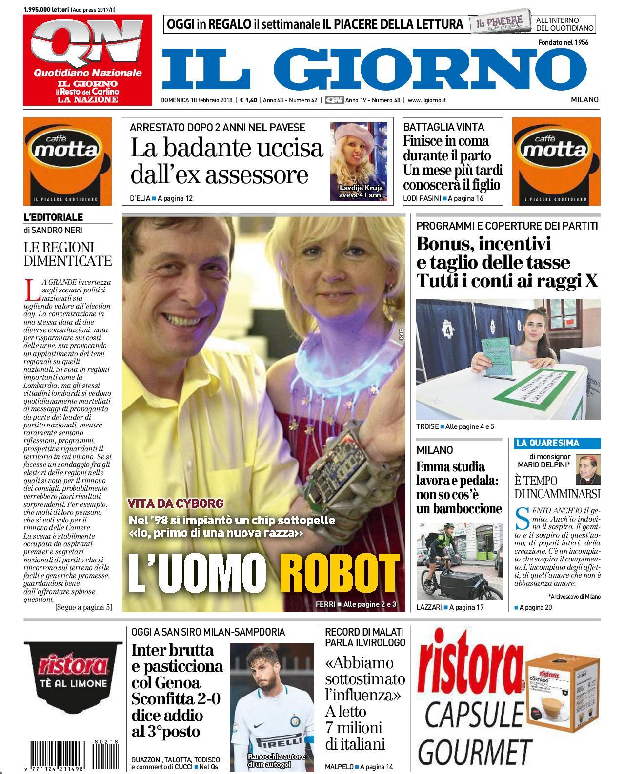 Calameo 2018 02 18 Qn Il Giorno Milano