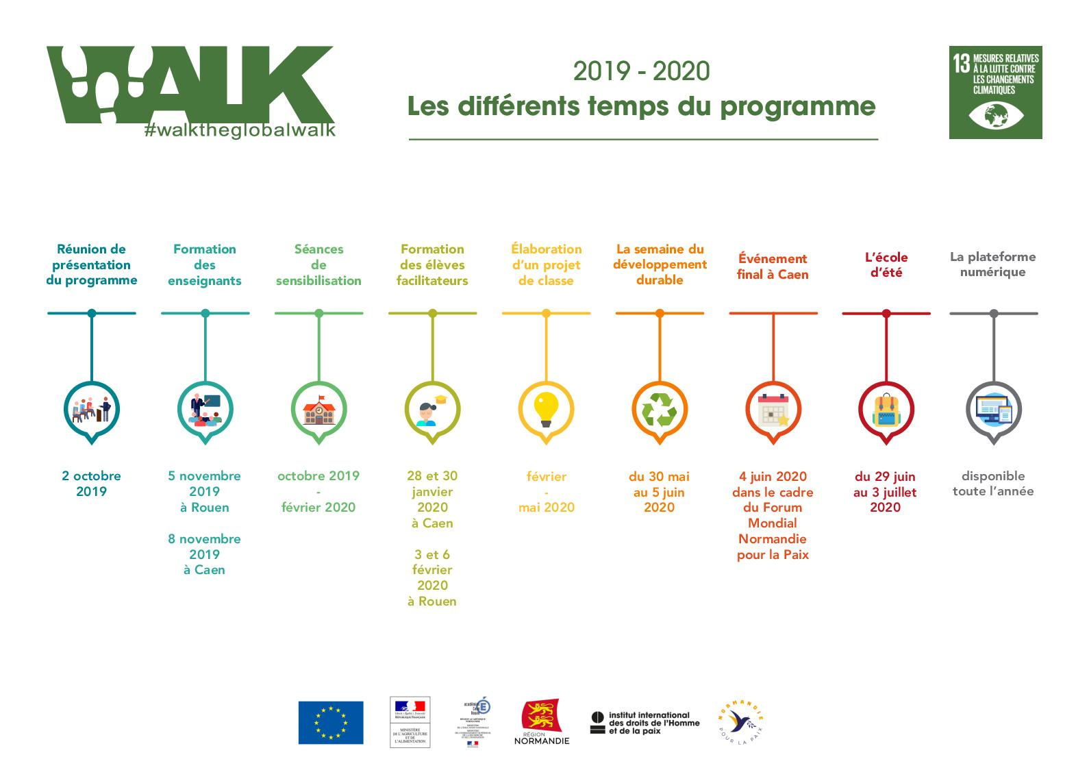 Calendrier Mondial 2020.Calameo Walk The Global Walk Calendrier Previsionnel