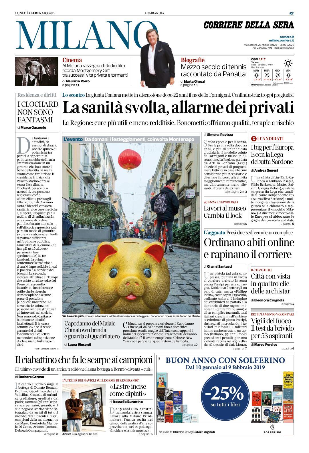 Calaméo Corriere Della Sera Milano 4 Febbraio 2019 By Pd S