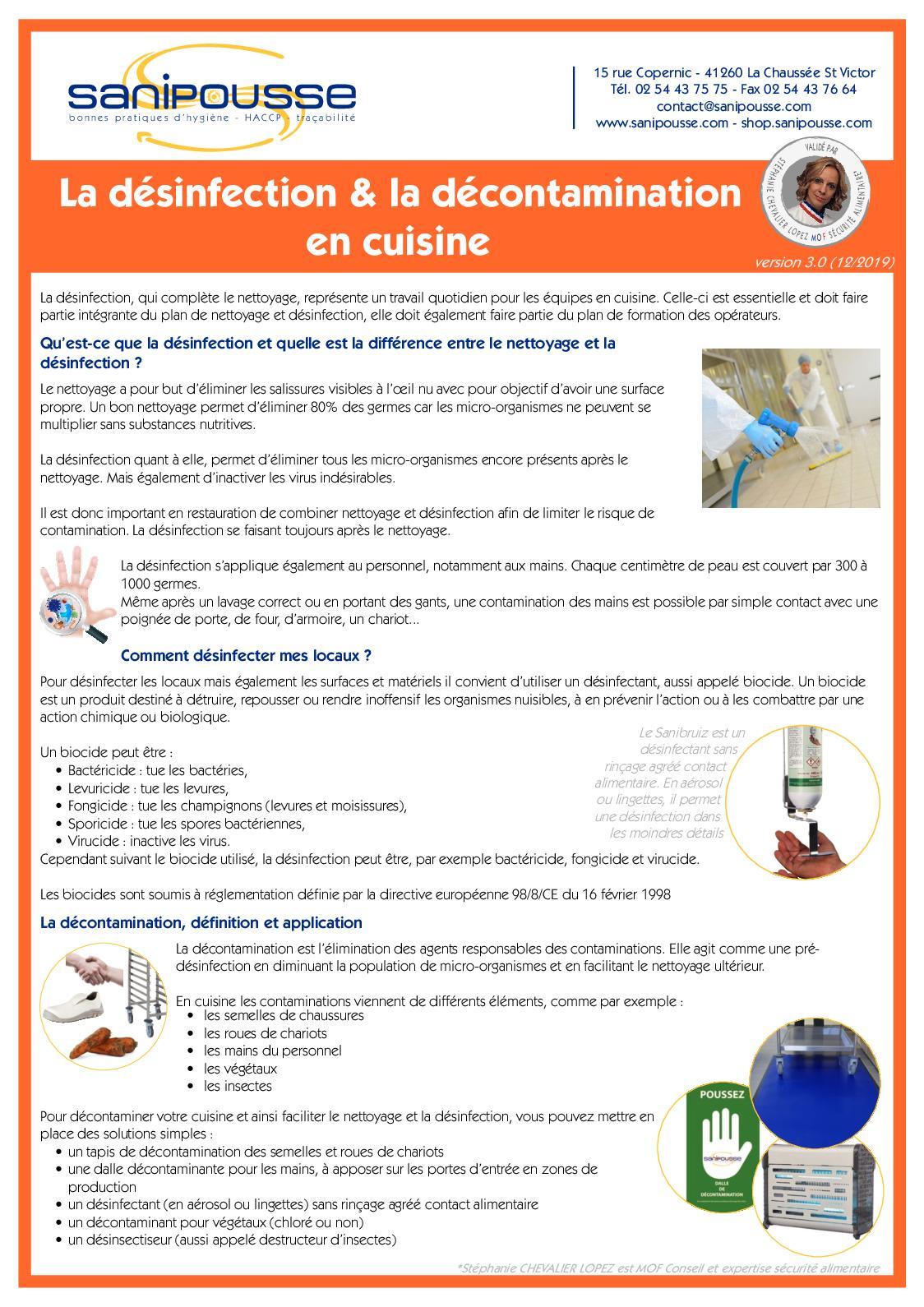 Calameo Dossier Desinfection Et Decontamination Sanipousse