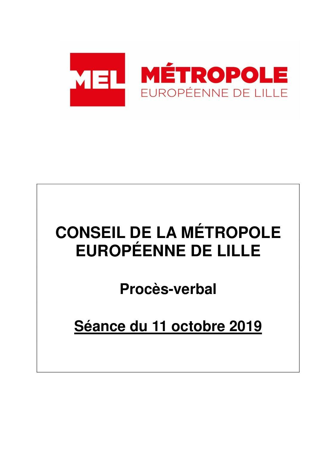 Calaméo Procès Verbal Séance Du 11 Octobre 2019