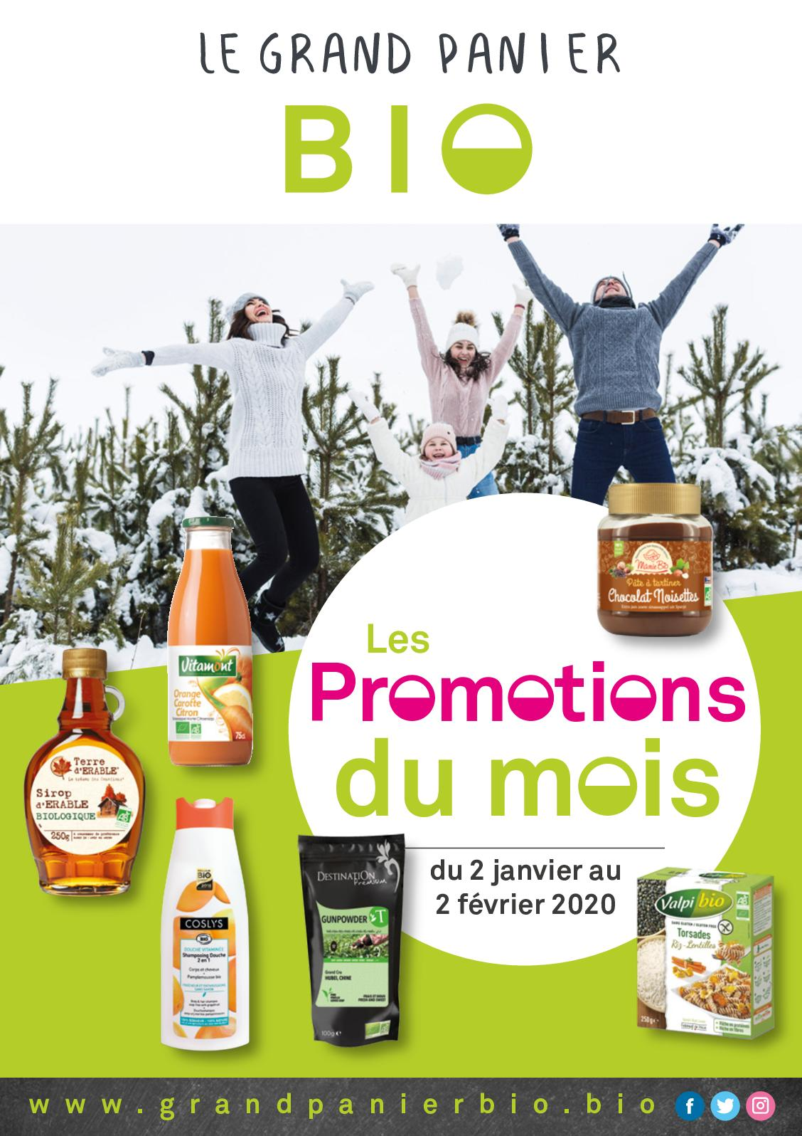 Promotions de janvier - Le Grand Panier Bio
