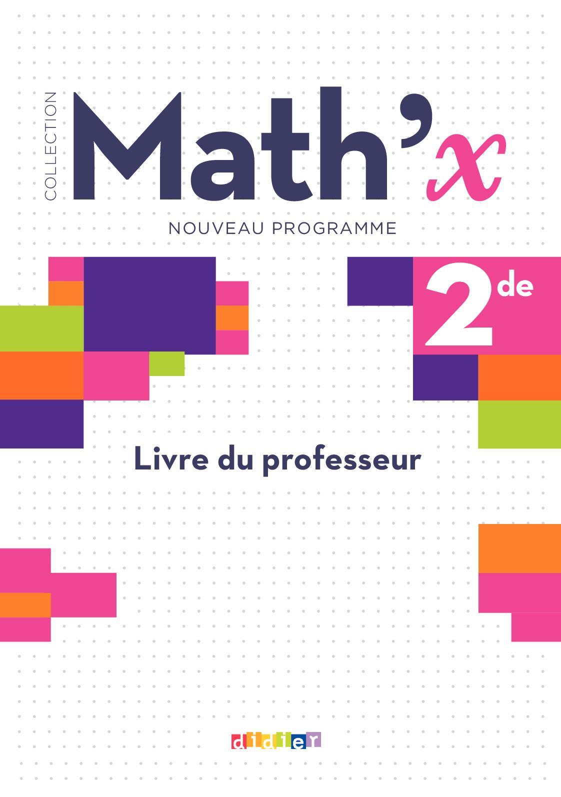 Calameo Livre Du Professeur Math X 2de