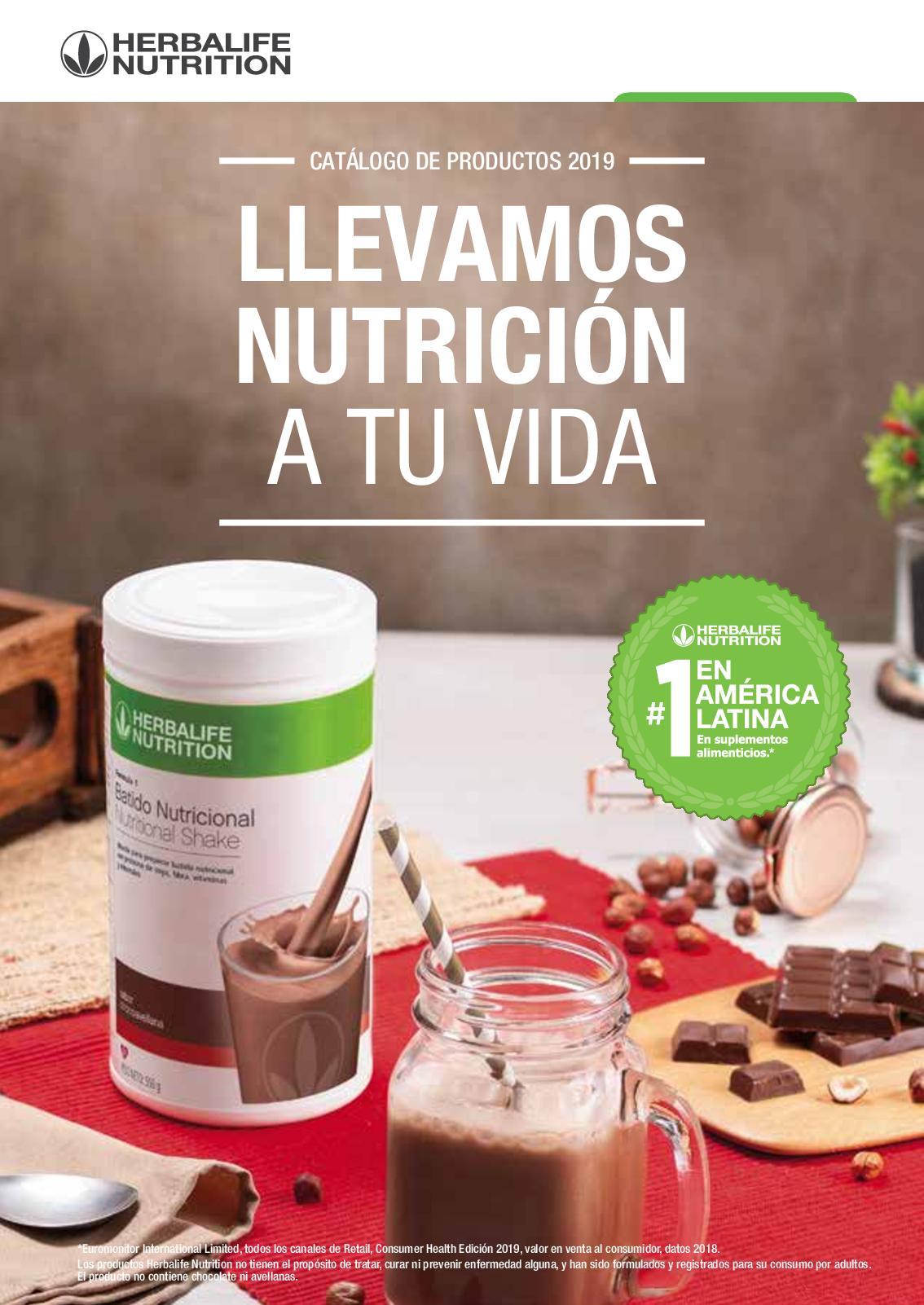 contenido nutricional batido herbalife