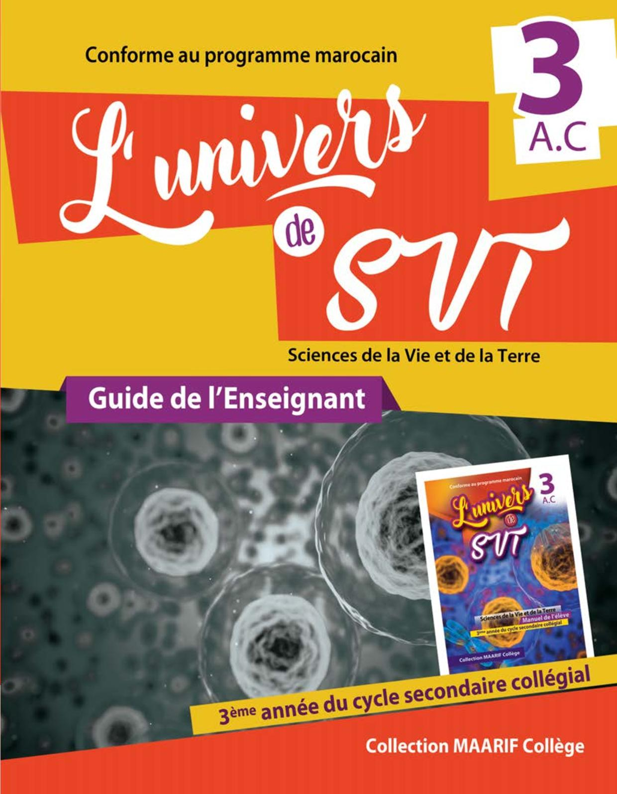 Guide L'univers Plus Svt 3ac