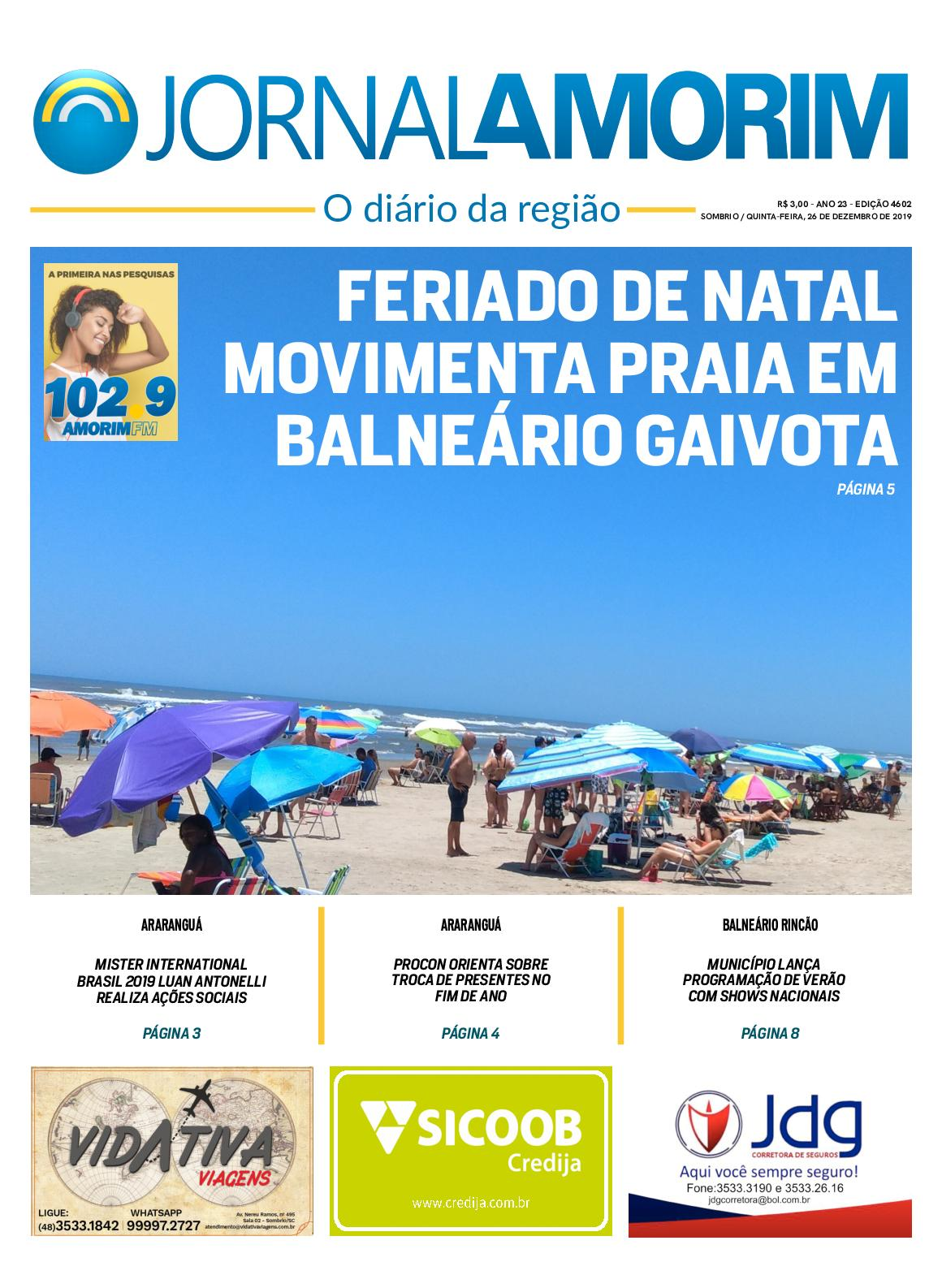 Jornal Amorim 4602 Quinta 26 12 19