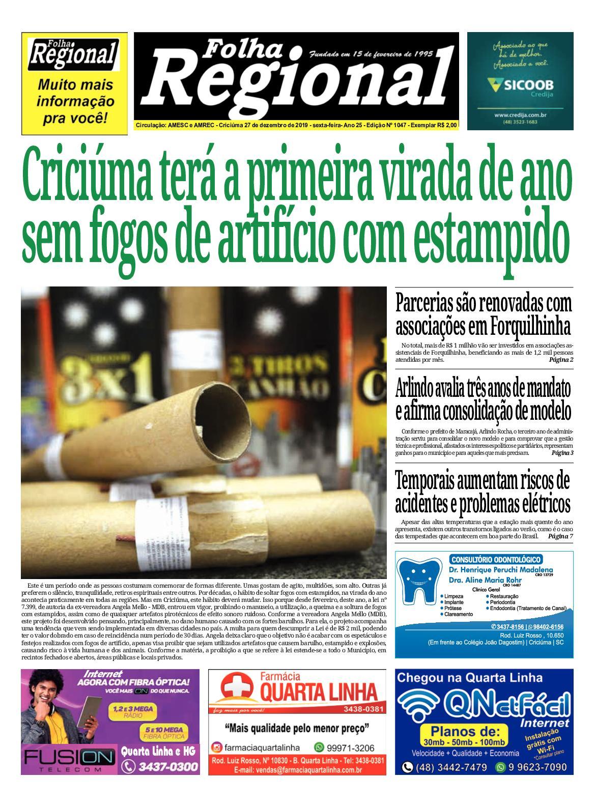 Folha Regional Ed.1047 - 27/12/2019