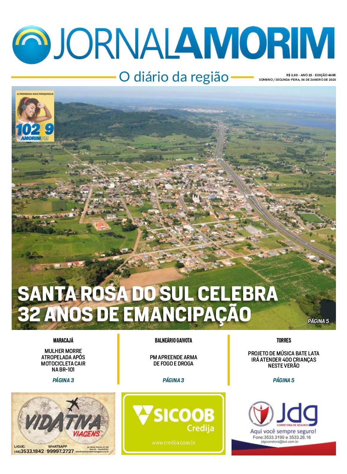 Jornal Amorim 4608 Segunda 06 01 2020