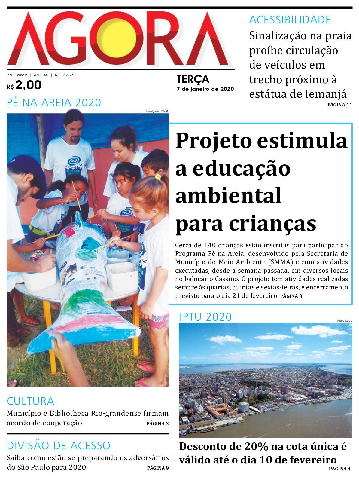 Jornal Agora - Edição 12537 - 7 de Janeiro de 2020