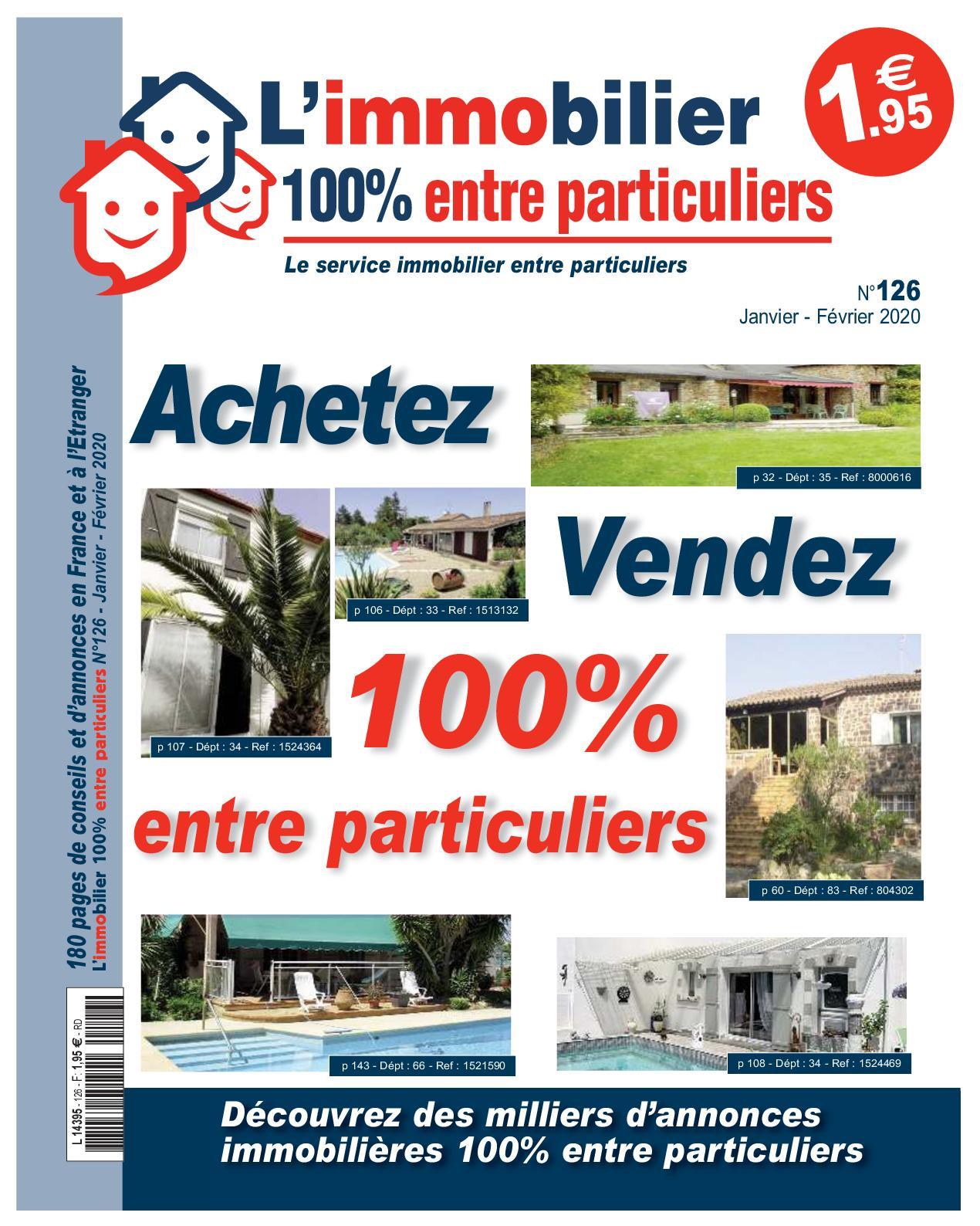 Calameo L Immobilier 100 Entre Particuliers Appel Immo N 126 Janvier Fevrier 2020