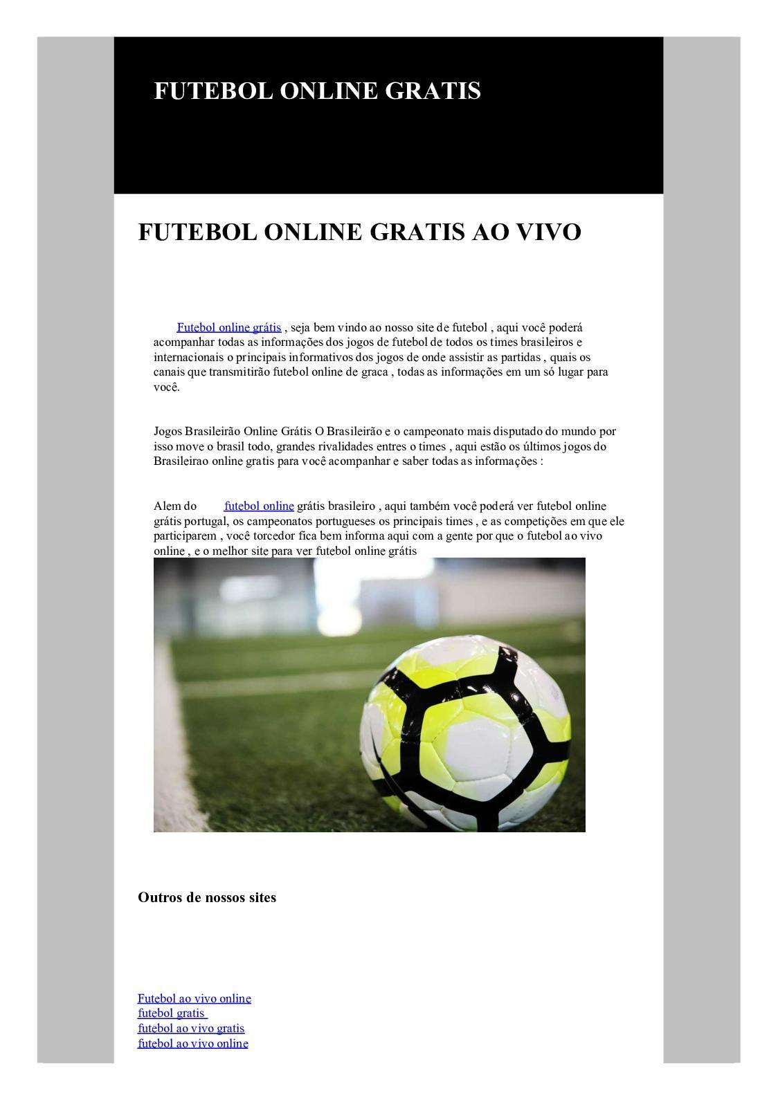 Calameo Futebol Online Gratis