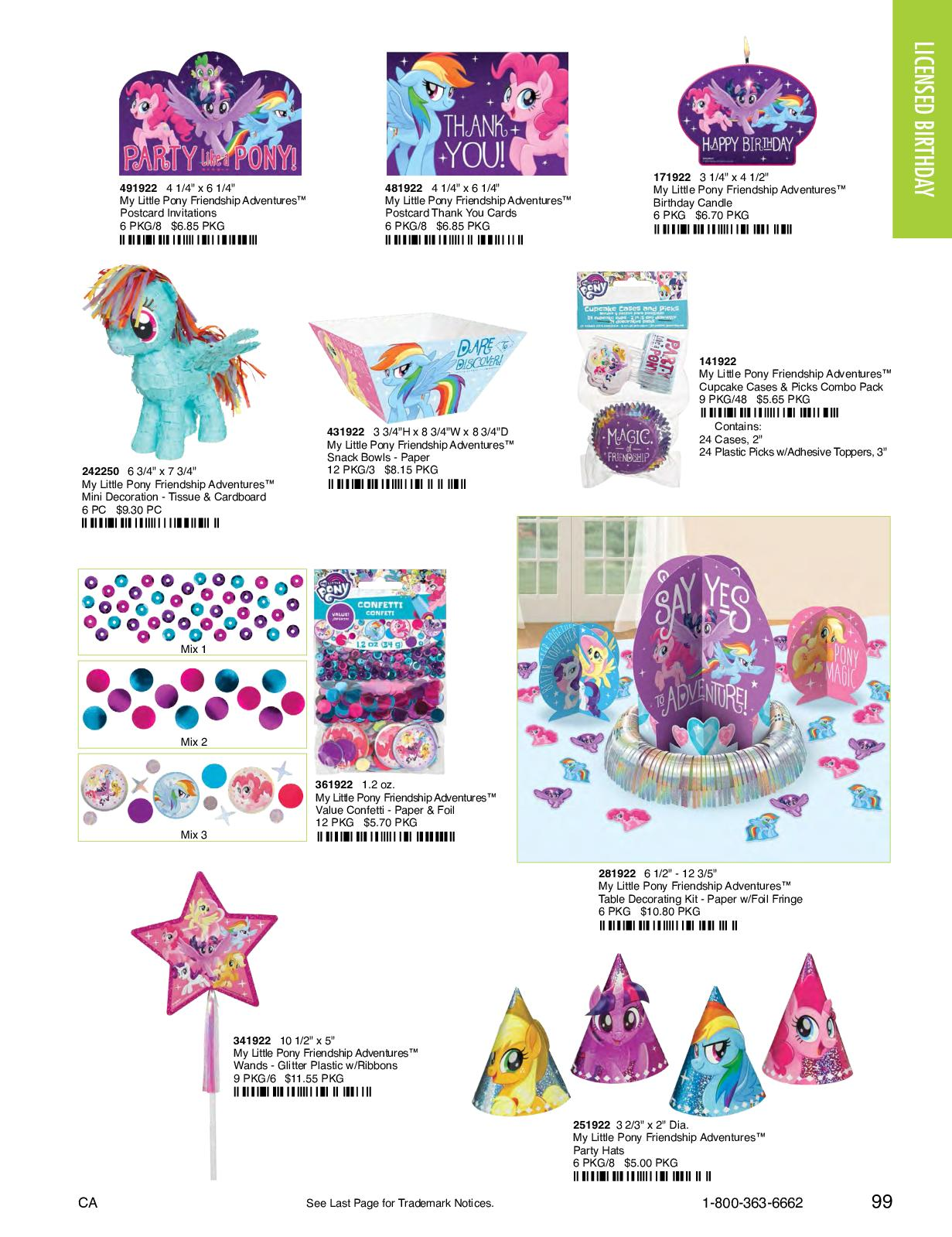 My Little Pony Friendship Adventures/™ Body Jewelry Favors Amscan