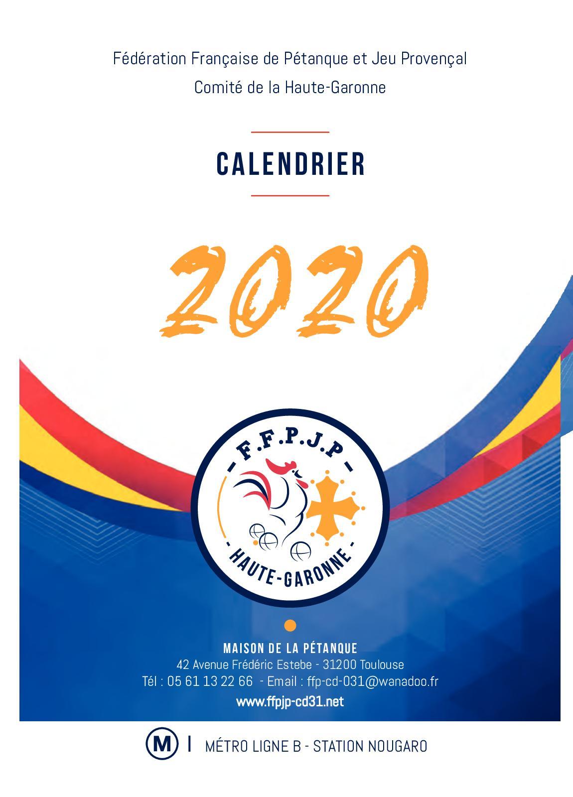 Calaméo   Calendrier Pétanque HG 2020