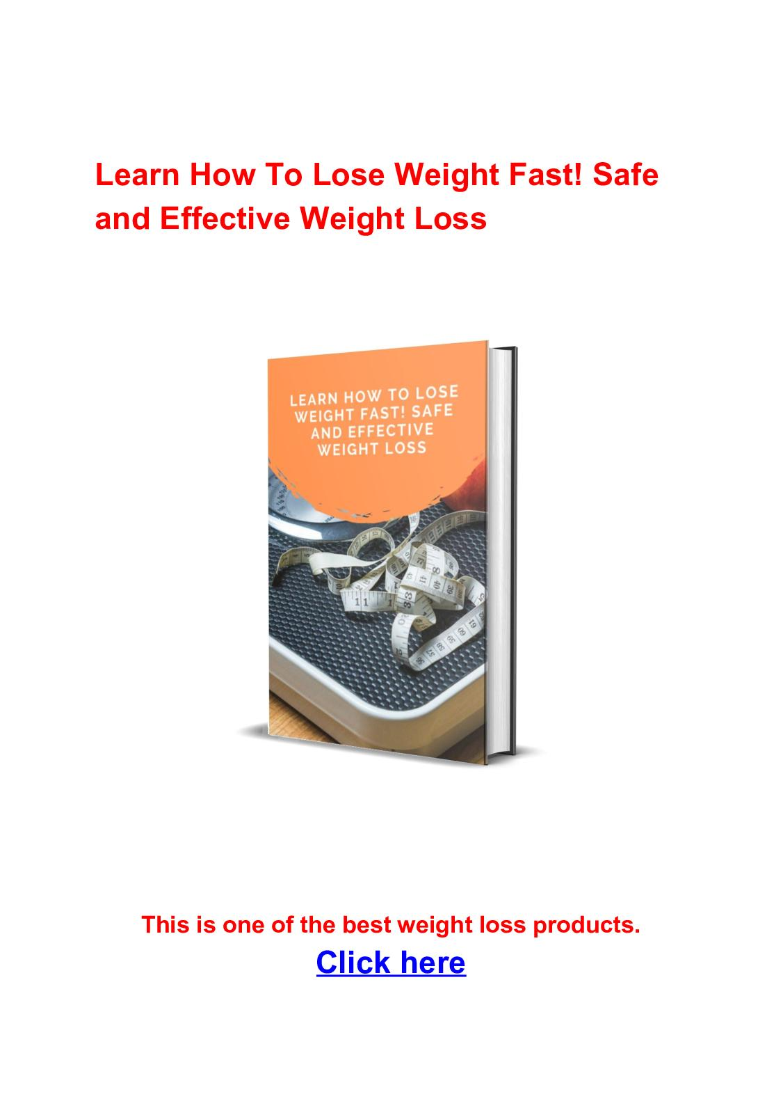 Calameo Learn How To Lose Weight Fast Safe And Effective Weight