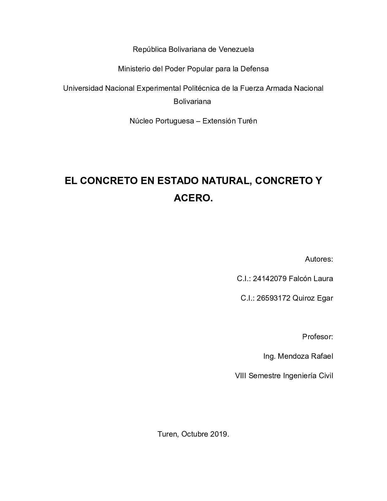Concreto y Acero (Trabajo/Recopilación)
