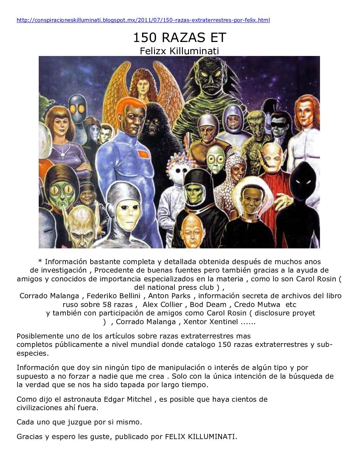 Calaméo 150 Razas Extraterrestres