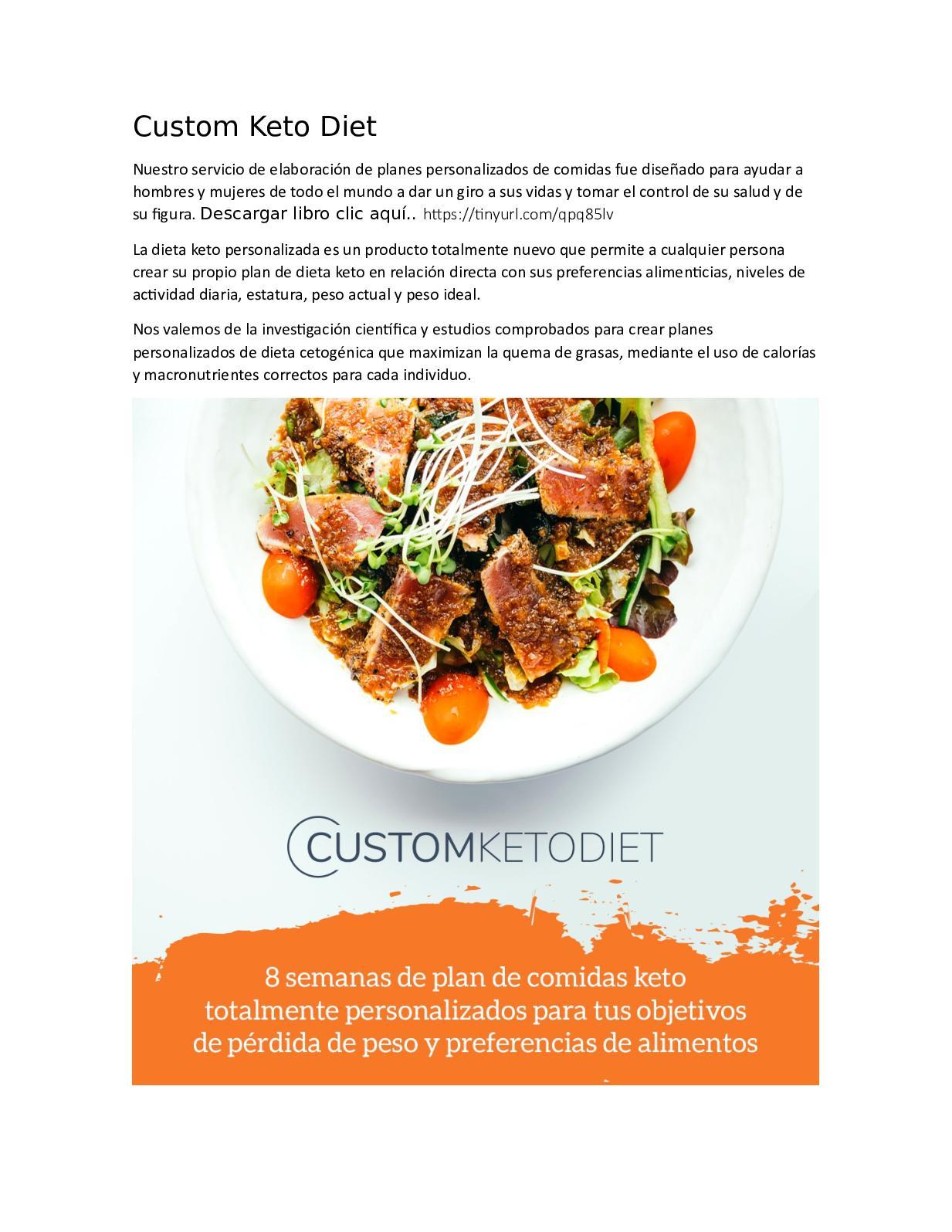 Lista de alimentos para comer en la dieta keto pdf