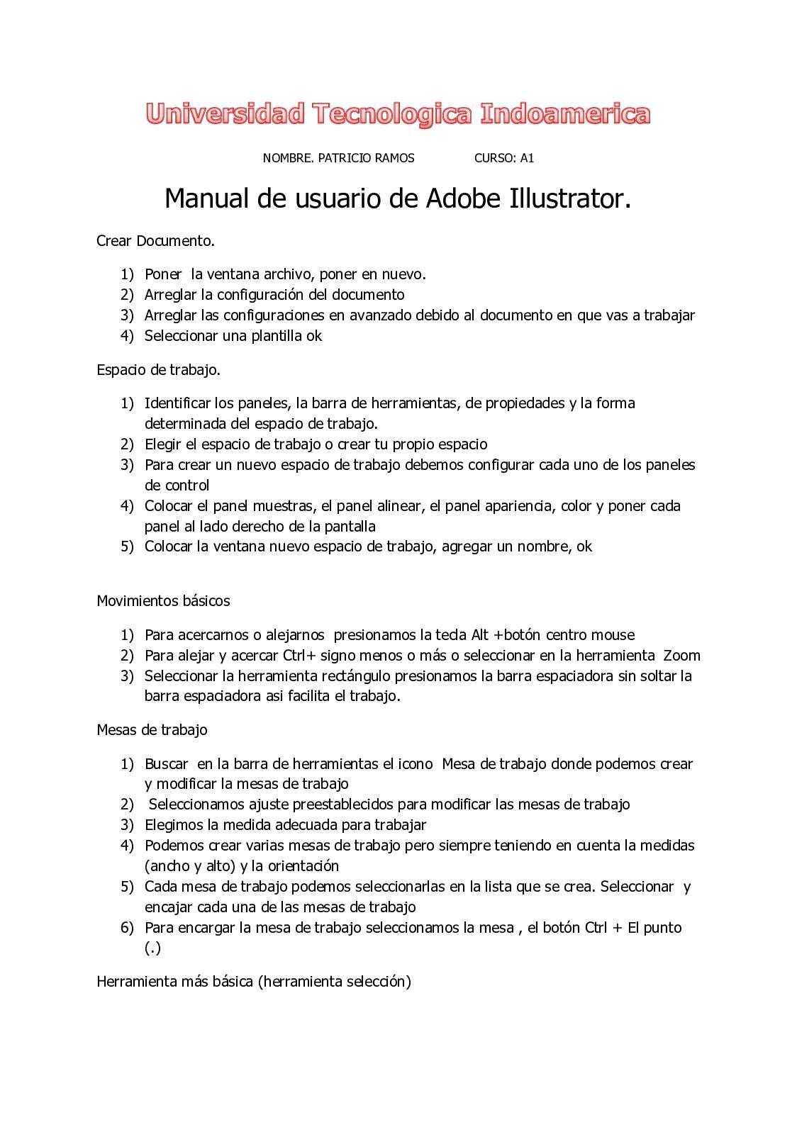 Calaméo Manual De Usuario De Adobe Illustrator