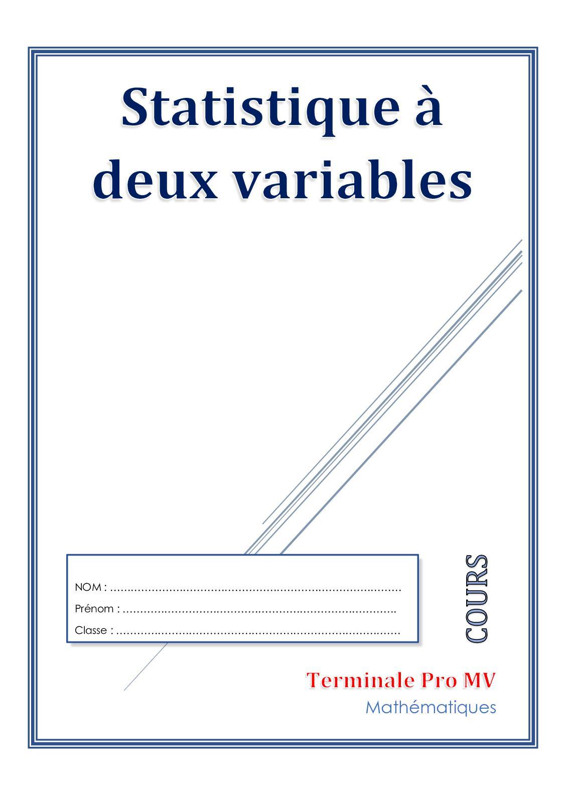 Calaméo - Danfakha Statistique à Deux Variables Doc Eleve