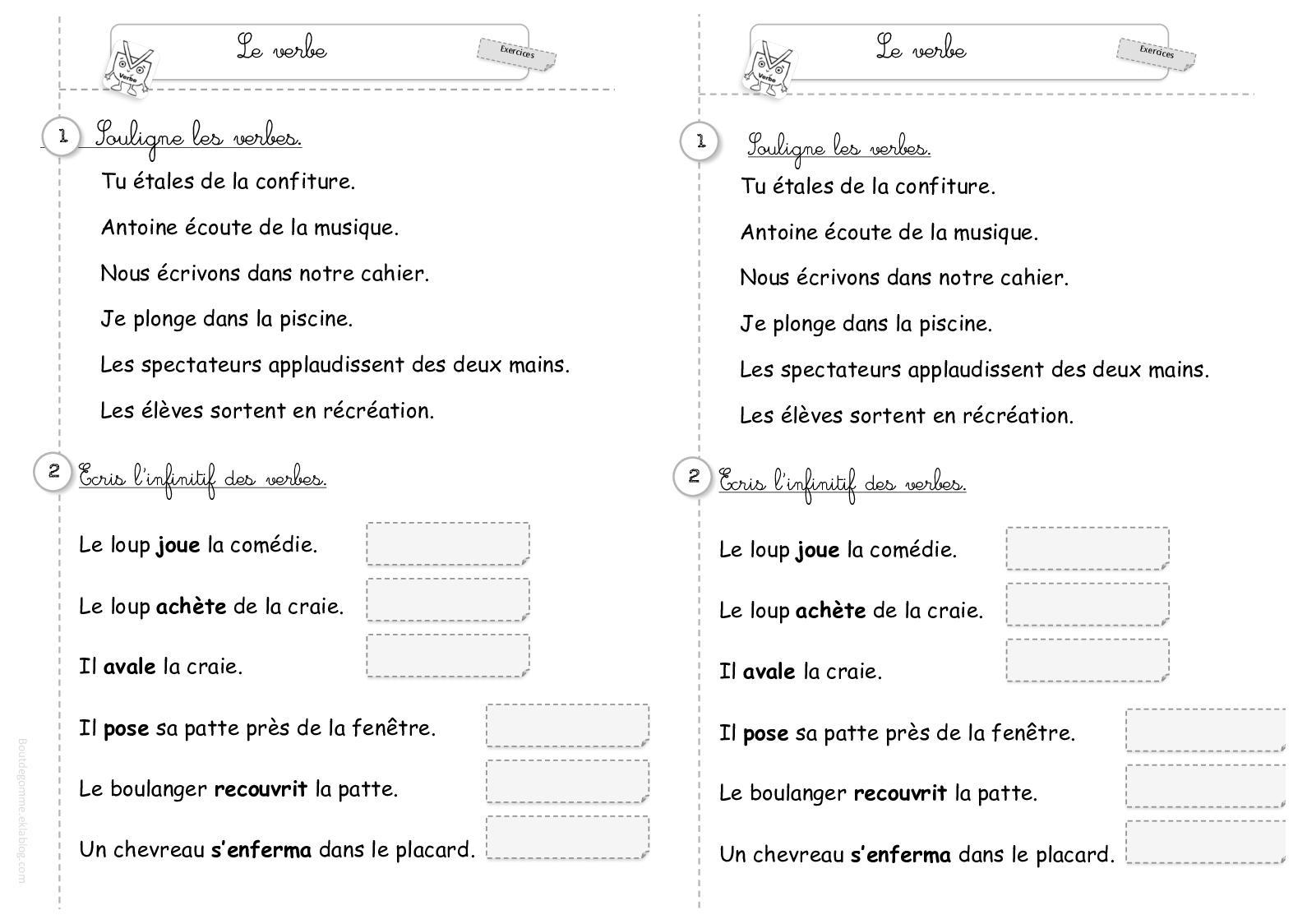 Calameo Exercices Conjugaison Verbes 1er Groupe