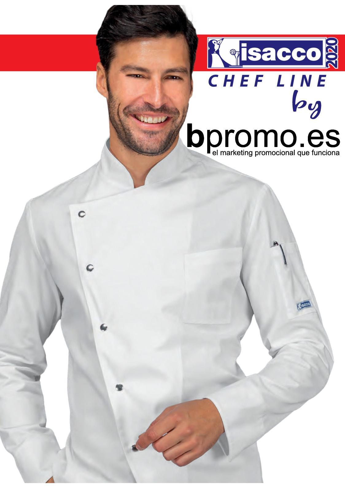 057099 Giacca cuoco Profilata Isacco Euro per Abbigliamento per la cucina Donna Uomo Giacche