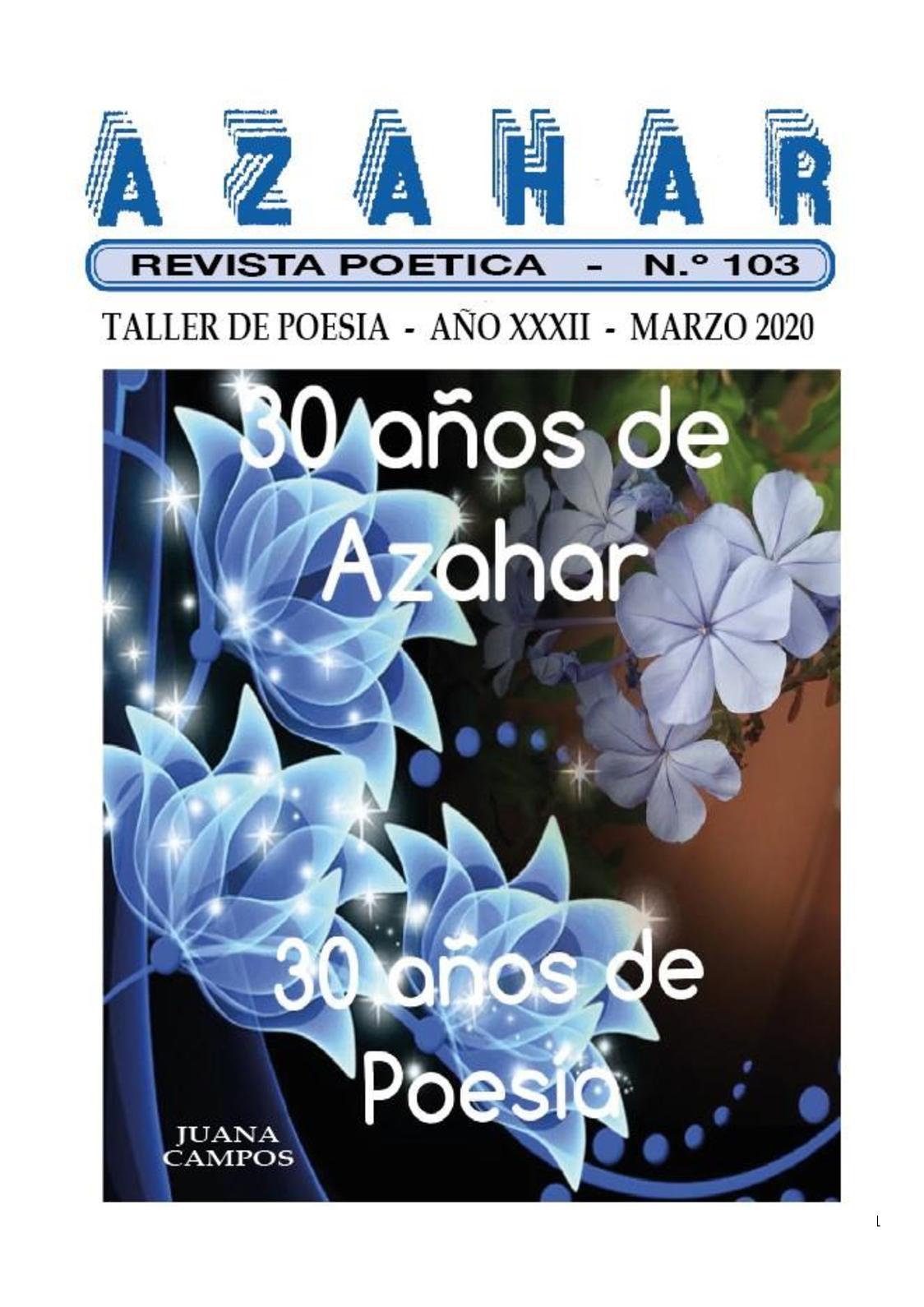Calaméo - REVISTA POÉTICA AZAHAR CIENTO TRES