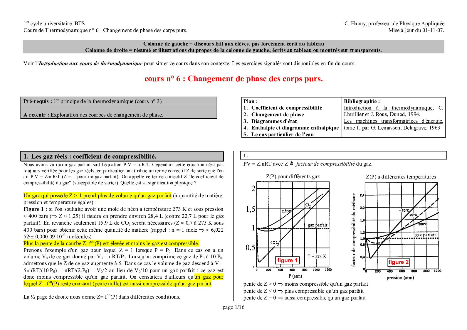 Cours 6 Thermo