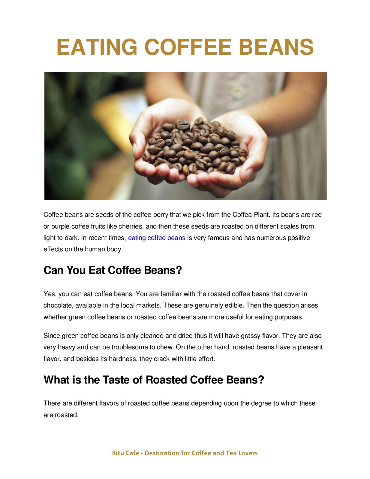 Calameo Eating Coffee Beans Taste Health Benefits And Side