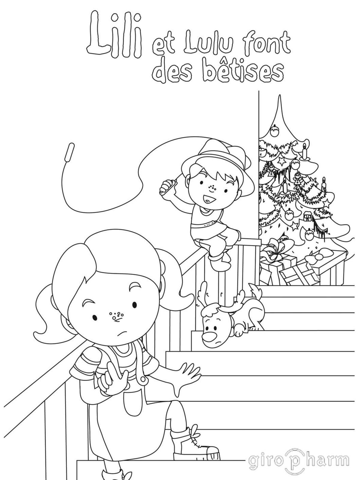 Calaméo   Coloriage Lili Lulu Betises