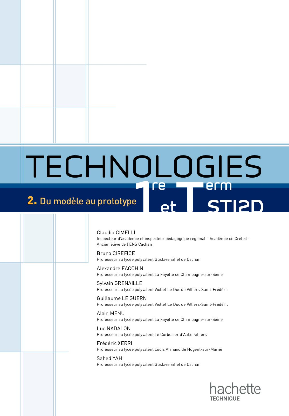 Calameo Technologies T2 1re Et Term Sti2d Ed 2012