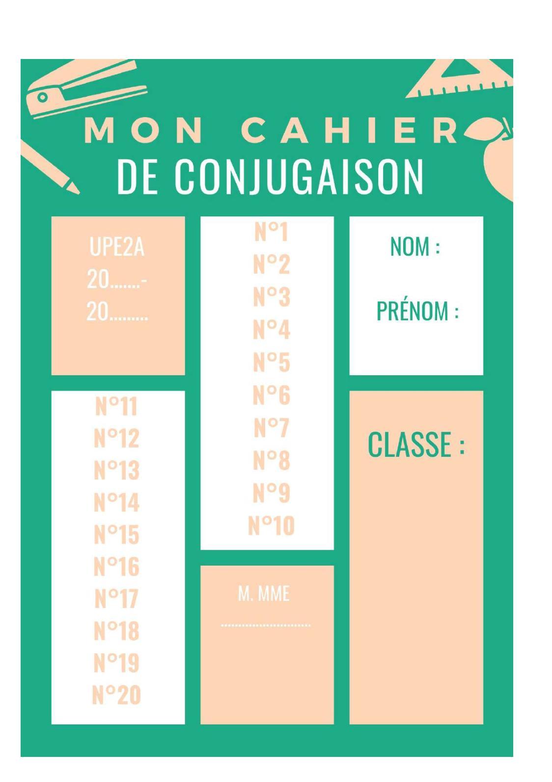 Calameo Cahier De Conjugaison