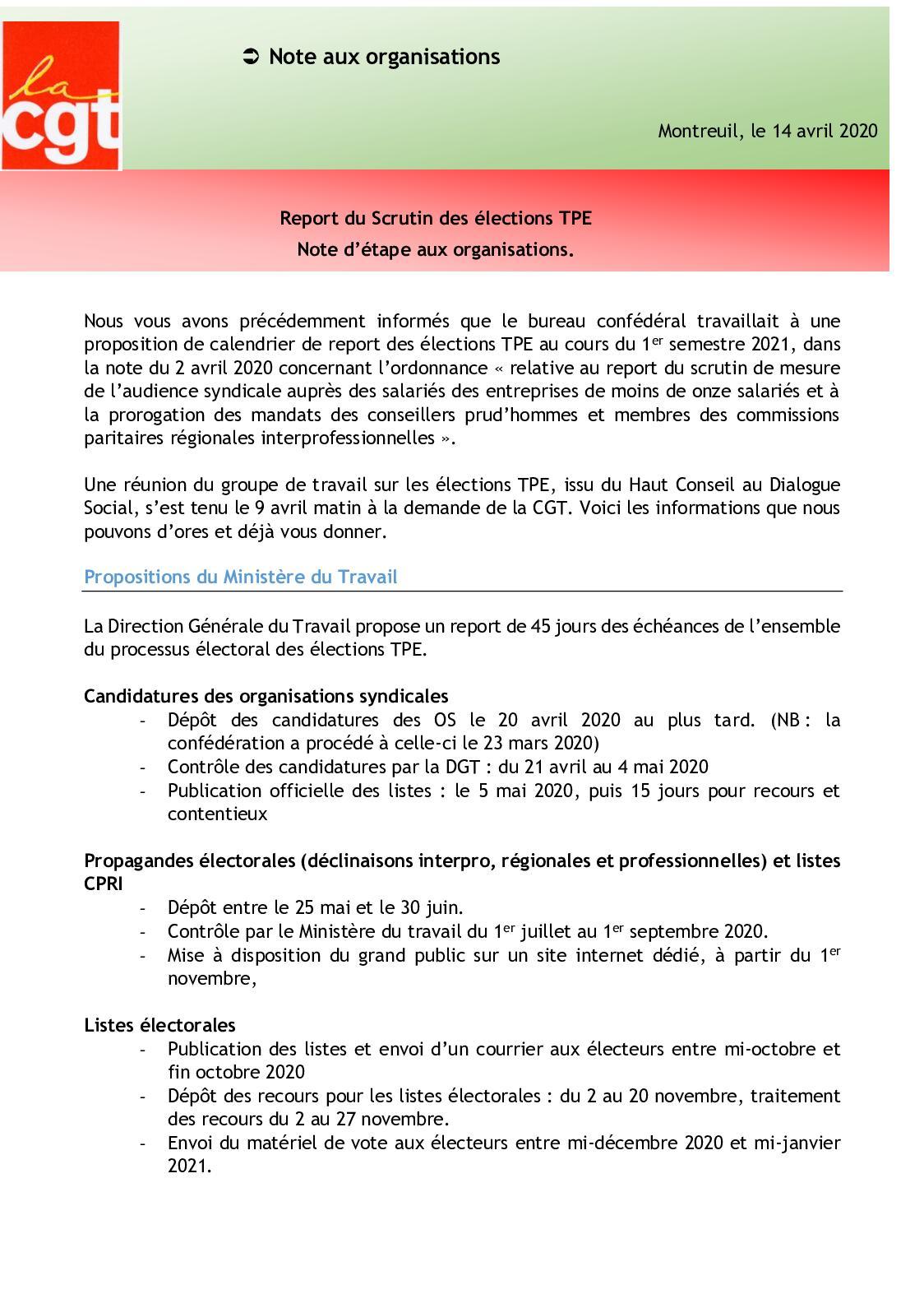 Calaméo   14 04 20 Report Du Scrutin Des éLections Tpe