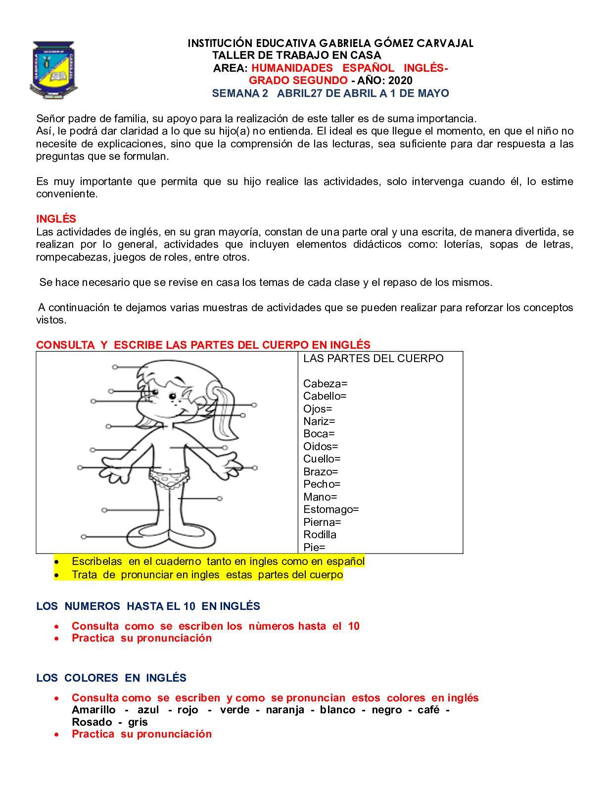 Calameo Ingles Espanol 27 Al 1 Mayo