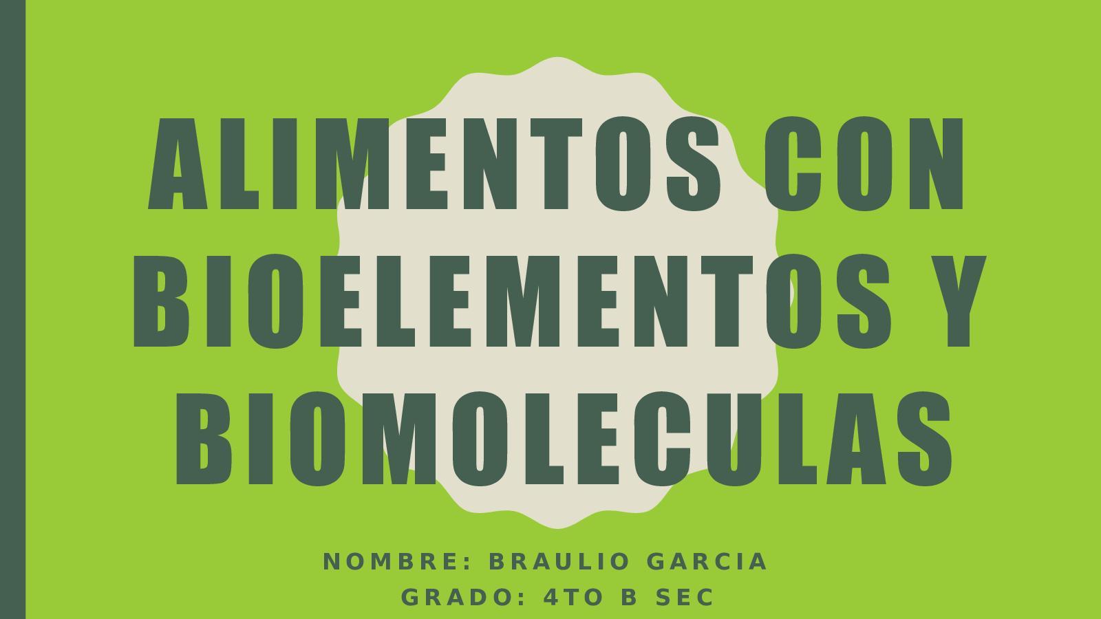 Alimentos Bioelementos
