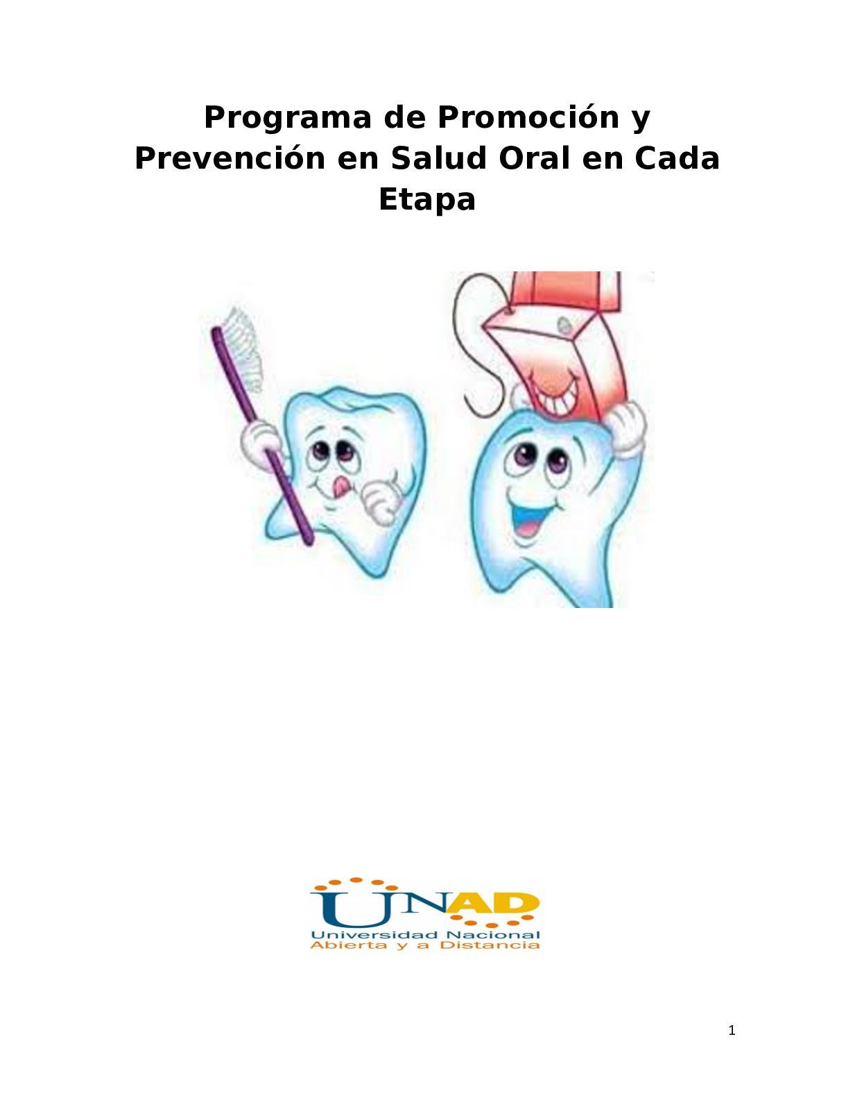 Programa De Pyp Salud Oral