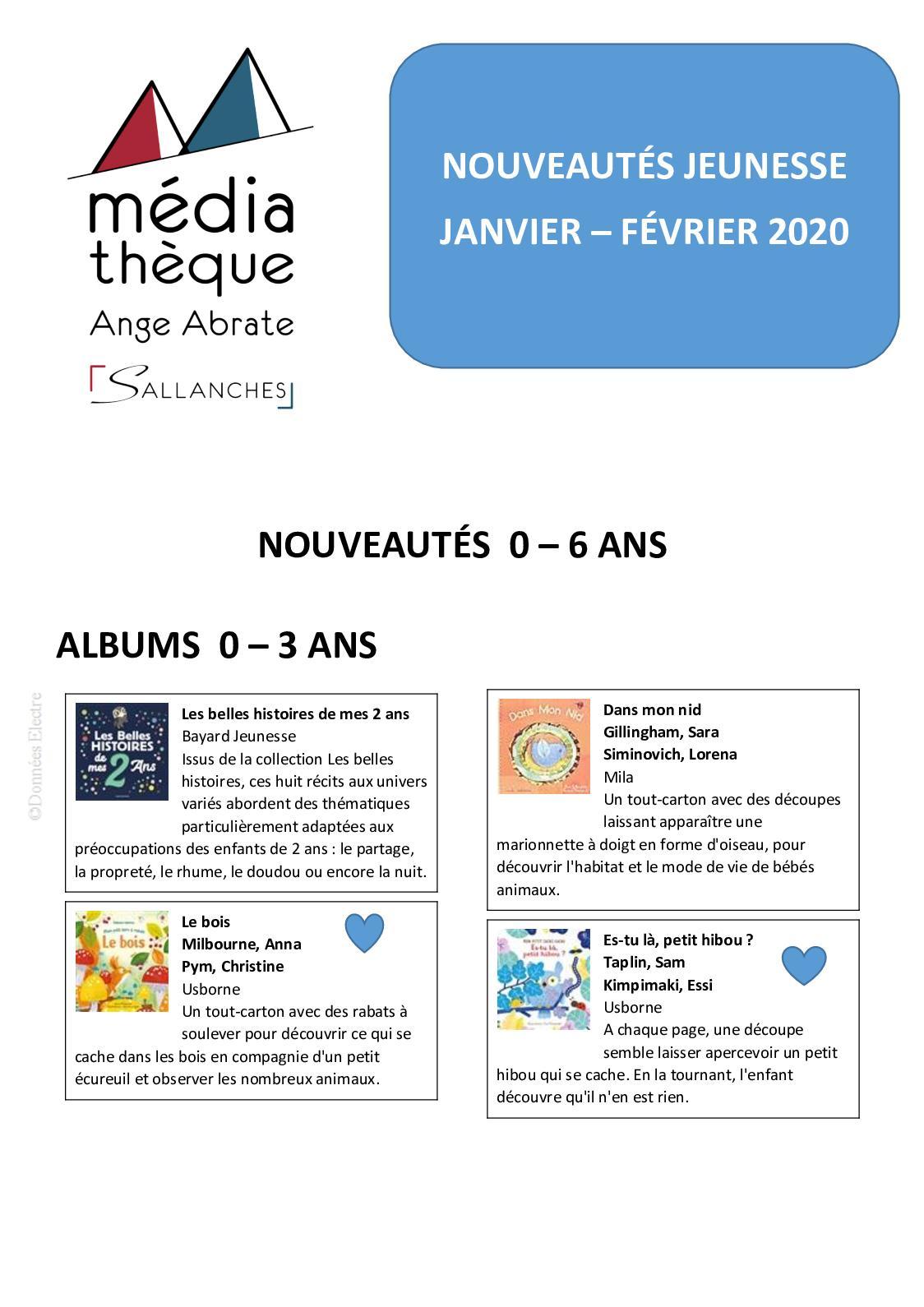Calameo Livres Jeunesse Janvier Fevrier 2020 0 6 Ans