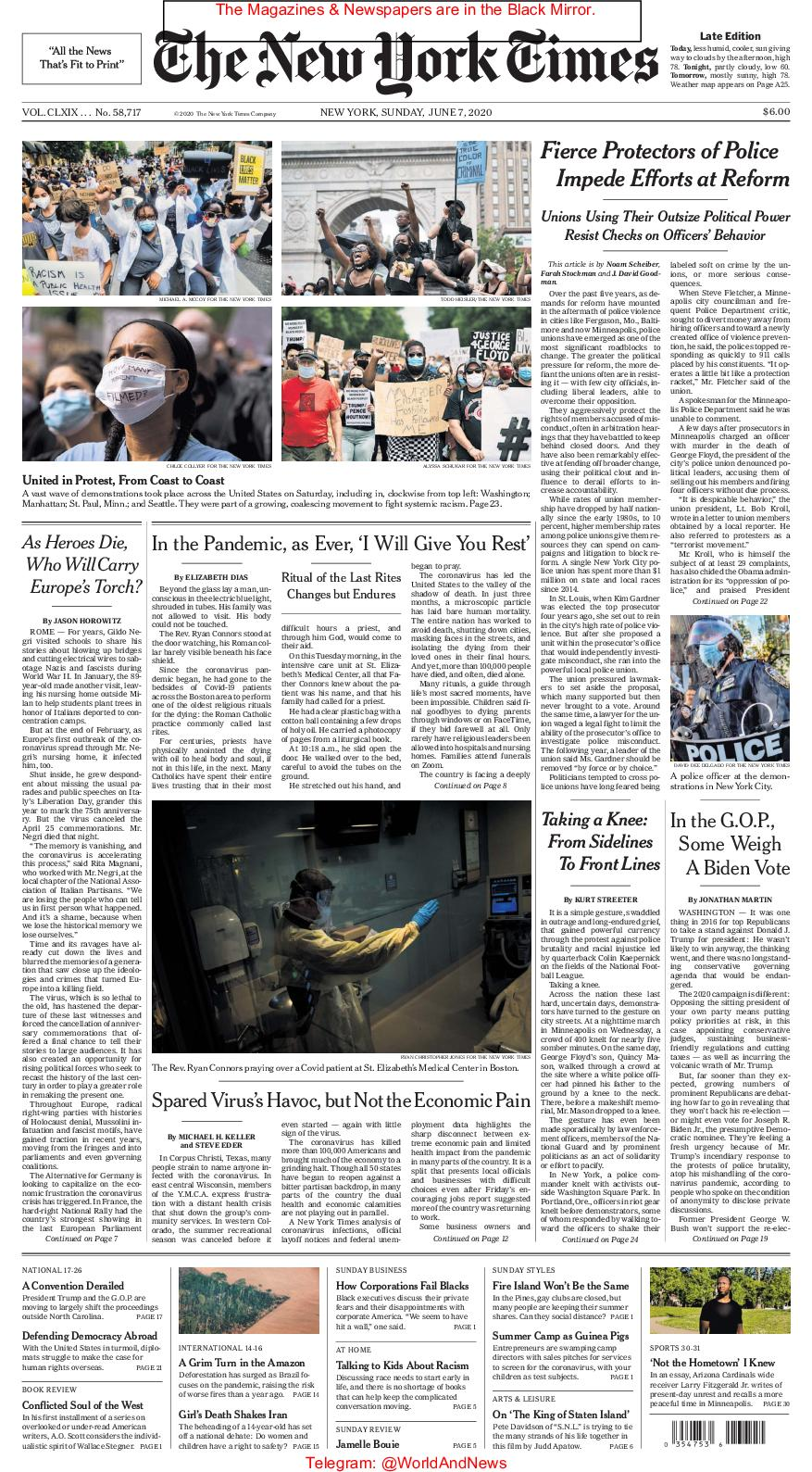 Calaméo The New York Times Junio 07 2020