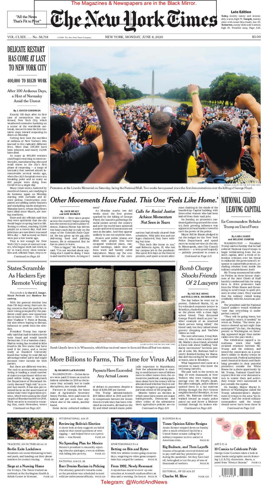 Calaméo - The New York Times June 08, 2020