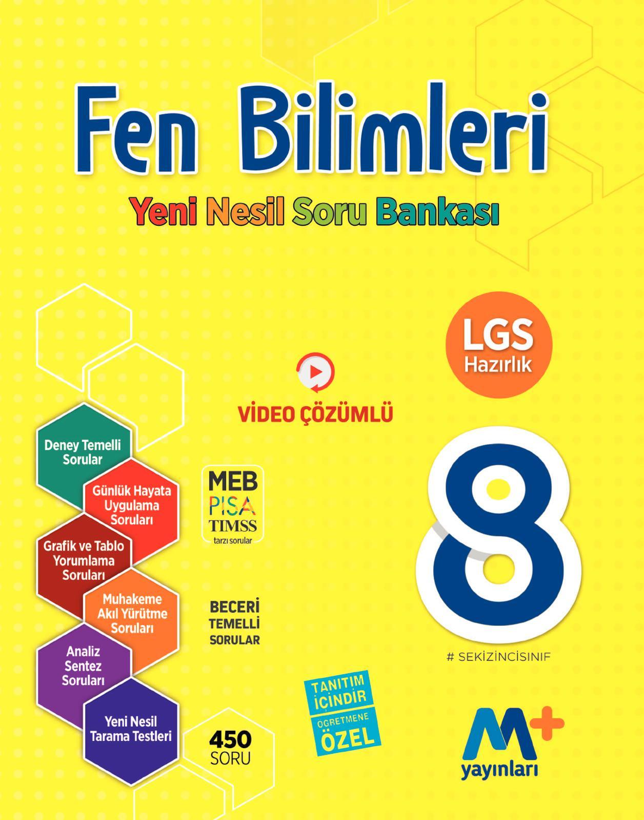 8. Sınıf Fen Bilimleri Yeni Nesil Soru Bankası (Öğretmen Örneği)