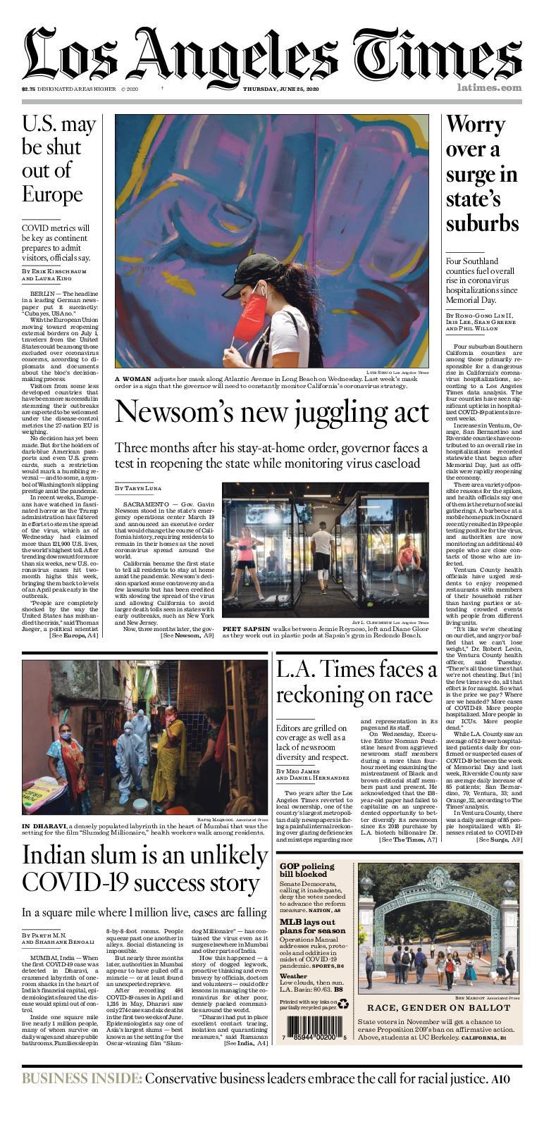 Calameo Los Angeles Times Junio 25 6 2020