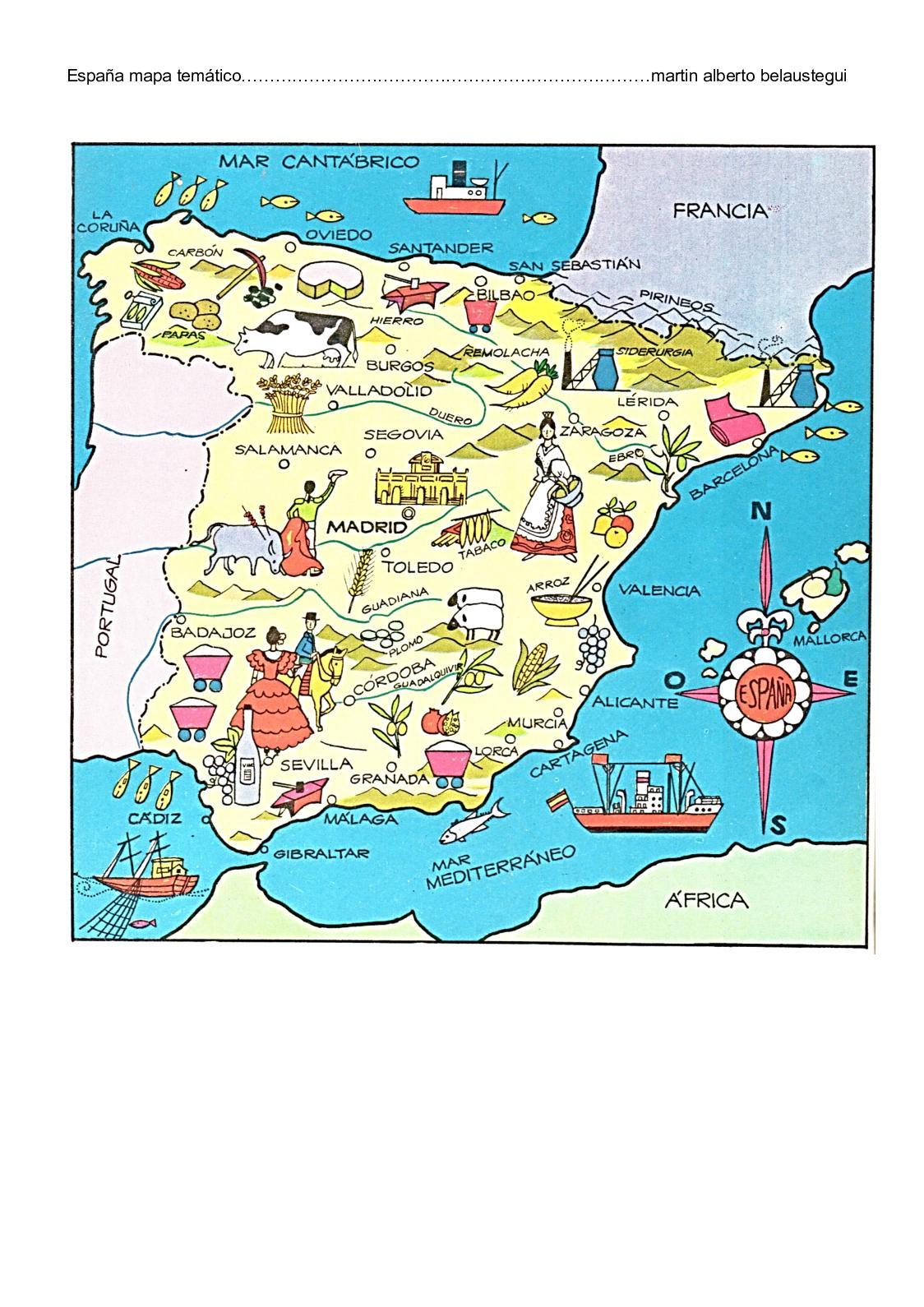 Mapa Tematico De Espana.Calameo Espana Mapa Tematico